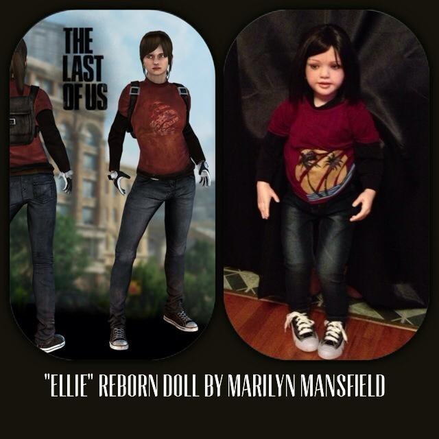 Ellie inspired reborn doll